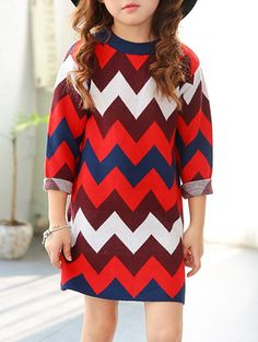 Color Block Chevron Striped Knitted Dress #shoes, #jewelry, #women, #men, #hats, #watches, #belts