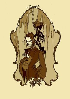 Edgar Allan Poe and his Tales illustrated by the talented Illustrator Abigail Larson (Artist on tumblr): The Cask of Amontillado