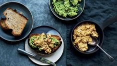 Take your avocado toast to the next level with turmeric scrambled deviled eggs – Well+Good Avacado Toast, Healthy Snacks, Healthy Recipes, Healthy Eating, Diabetic Recipes, Healthy Fats, Vegan Scones, Bariatric Recipes, Meat Recipes