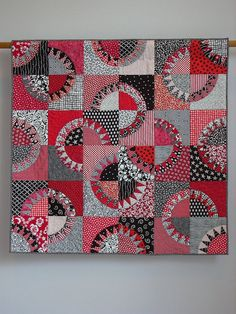 Red & Black Licorice wall quilt. $2,000.00, via Etsy.