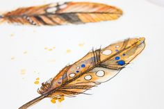 Aquarell Federn | watercolor feathers by Janna Werner