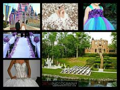 Wedding callage I made, thats the castle im getting married at, top of the dress I want, wedding isle, honeymoon destination, bridal portraits in a cotton field, and flower girl dress! :)