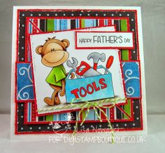 DigiStamp Boutique using a cute image from the Cheeky Monkey set