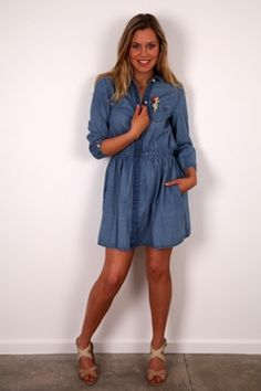 Levis Ladies Jeans Button Up Dress , Womens Short Dresses at Birdsnest Women\u0027s  Clothing