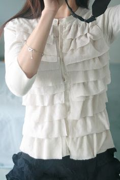 Life is Beautiful :DIY Anthropologie Ruffled Cardigan