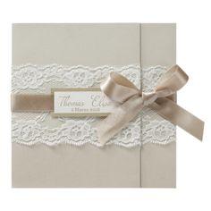 via fontana 30 Lace&Satin Wedding Invitation
