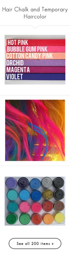 """""""Hair Chalk and Temporary Haircolor"""" by haikuandkysses ❤ liked on Polyvore featuring accessories, hair accessories, hot pink hair accessories, pink hair accessories, purple hair accessories, beauty products, haircare, hair color, hair and eyewear"""