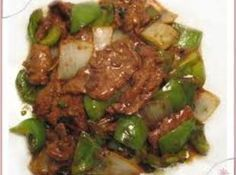 Pepper Steak - I substituted Pioneer brown gravy mix, mixed as directed on the package, in place of the beef broth, cornstarch and the 1/4 cup of water in the recipe. Akso, I used precut beef for stirfry. A quick, good supper over rice.