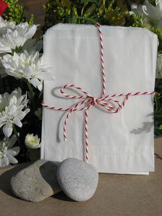 Square glassine bags