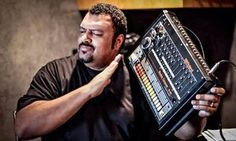 Egyptian Lover with his Roland TR-808.