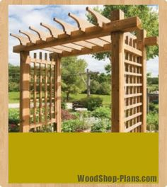 garden gateway pergola woodworking plans