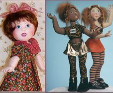 Doll Net Market/Internet Visions Company::Judi's Dolls - Cloth Doll Patterns