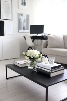 small living room with no coffee table daybed killer tables 19 styling ideas to steal stick monochromatic books on
