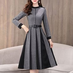 Round Neck Patchwork Printed Skater Dresses ,womens clothes , Outfit Ideas For Wom… in 2019 Elegant Dresses, Casual Dresses For Women, Cute Dresses, Vintage Dresses, Clothes For Women, Awesome Dresses, Dresses Dresses, Trendy Outfits, Formal Dresses