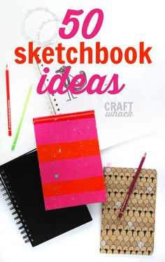 50 sketchbook ideas for you! And for kids and for anyone who wants fun new sketchbook ideas.