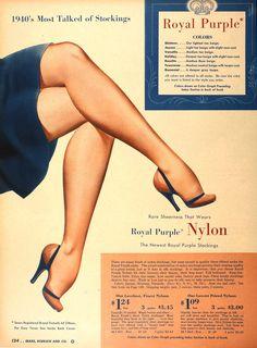 ✿ 乐茹: Collection of vintage stockings ads ✿