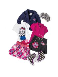 Cute little girls outfit for school :)
