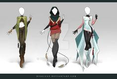 (CLOSED) Adoptable Outfit Auction 91-93 by Risoluce on @DeviantArt