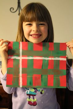Spark and All: FIAR - Wee Gillis - Painting our family tartan!