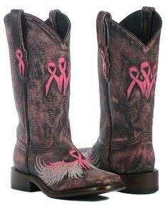 I need these breast cancer boots!