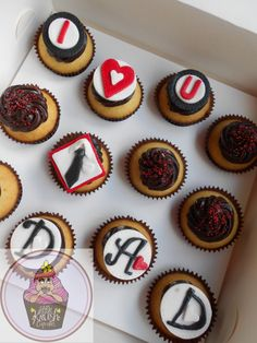 Fathers day cupcakes @ https://www.facebook.com/pages/Little-Krush-Cupcakes-NZ/485728288124195
