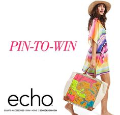 Win your dream vacation wardrobe from Echo's Spring collection and a $1,000 Travelocity giftcard to get you there.