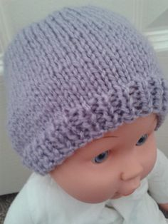 23520fe03c2 Lilac beanie hat. Knitted baby beanie. Size by LittleMunchkins1981 Knitted Baby  Beanies