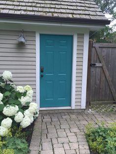 Front Door Color Trends That Can Take You From Now Into 2019 - Doors, Doors, and more Doors - Door Design Teal Front Doors, Teal Door, Front Door Paint Colors, Painted Front Doors, Front Door Design, Front Door Decor, Turquoise Door, Best Front Door Colors, Shutter Colors
