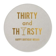 """These coasters make perfect party accessories for any birthday occasion. These coasters can be printed using metallic foil. Please see the last photo for all ink colors available. SIZE: 4"""" square or 3 More"""