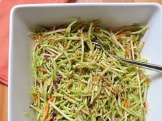 Asian Broccoli Slaw - tried this as an alternative to the usual broccoli slaw I make since I didn't have the almonds or green onions but I had everything for the oriental version. Made it to take to a cookout as a different side. I thought it was a bit salty but my husband really liked it. I think it would be great as a side with teriyaki pork chops for dinner.