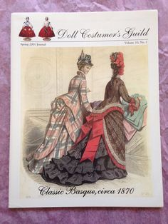 "Classic Basque Bustles Polonaises  French Fashion 18/"" doll dress pattern"