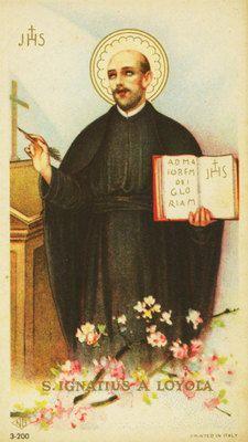 Antique Holy Card St. Ignatius Loyola