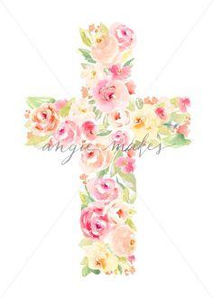Cross Made of Flower