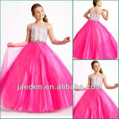 JF0070 Pink Pageant Dress