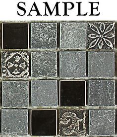 Looks beautiful. Classic. Sample Kitchen Bathroom Gray Silver Slate Glass Mosaic Tile | eBay