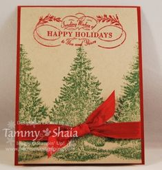Tammy's CAS Christmas Lodge card. All supplies from Stampin' Up!
