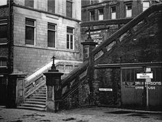 steps from sunbridge road i used to walk down these steps to the staff entrance of Bradford Permanent Building Society Main Entrance, Grand Entrance, Bradford City, Building Society, West Yorkshire, Concrete Jungle, Black And White Pictures, Urban Landscape, Old Pictures