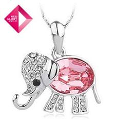 Supernova Sale Neoglory Jewelry Free shipping wholesale Swarovski Crystal Rhinestone Elephant Pendant Necklace women jewelry from Reliable necklace suppliers on NEOGLORY JEWELRY
