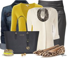 casual business outfit with leopard flats bmodish