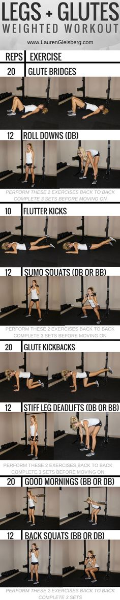 Legs + Glutes | Butt Workout - click for the full fitness program