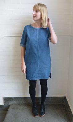 The giant denim egg – Inari tee dress no. 2
