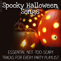 Spooky Songs perfect for a kid-friendly Halloween Playlist - a few good options for adults too! Halloween Playlist, Party Playlist, Halloween Songs, Halloween Season, Holidays Halloween, Spooky Halloween, Halloween Tricks, Halloween Parties, Halloween Crafts