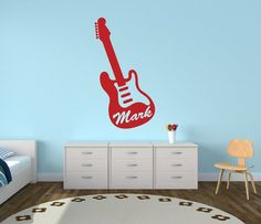 Personalized Name Guitar Decal  Music Decal Guitar by NewYorkVinyl, $10.00