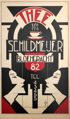 Thee Schildmeijer Art Deco, 1930s - original vintage poster listed on AntikBar.co.uk