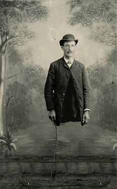 Lester forgot his pants.       Victorian Surrealism
