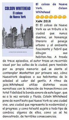 El coloso de Nueva York. Colson Whitehead. XAN 208
