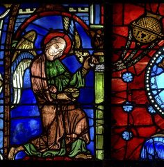 Chartres Cathedral Stained Glass - Bay 30a (Notre Dame de la Belle Verriere)