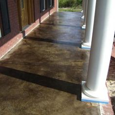 TJS front 2 ---this is gorgeous. I wonder if it would change the texture of cement. Stained Concrete Porch, Acid Stained Concrete Floors, Concrete Steps, Concrete Design, Concrete Staining, Concrete Patios, Poured Concrete, Concrete Projects, Patio Design