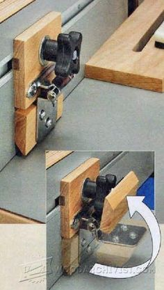 Woodworking Business Adjustable Stop Block - Marking and Measuring Tips, Jigs and Techniques - Woodwork, Woodworking, Woodworking Plans, Woodworking Projects - Woodworking Table Saw, Woodworking Courses, Woodworking Saws, Learn Woodworking, Woodworking Techniques, Woodworking Projects, Carpentry, Table Saw Jigs, Router Table