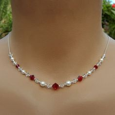 Bridesmaid Necklace and Earring Set Swarovski by handmadebydiana, $48.00